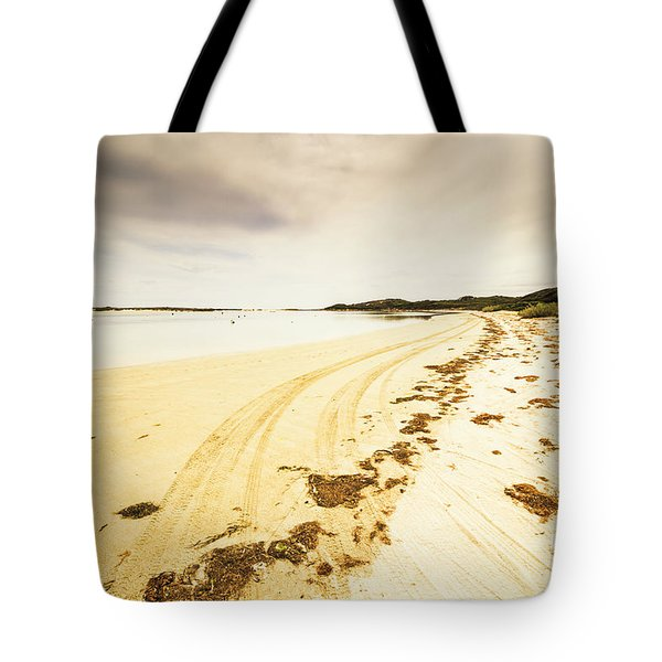 Sandy Tasmanian Shores Tote Bag
