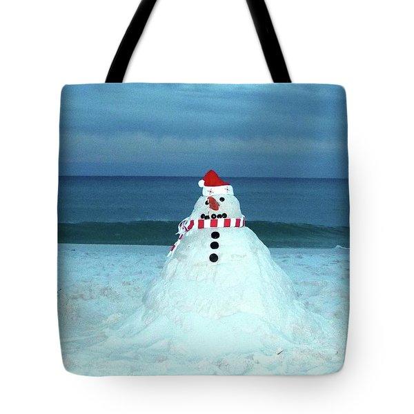 Sandy The Snowman Tote Bag