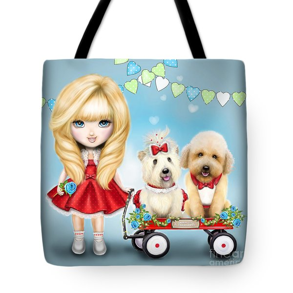 Tote Bag featuring the painting Sandys Precious Cargo by Catia Lee
