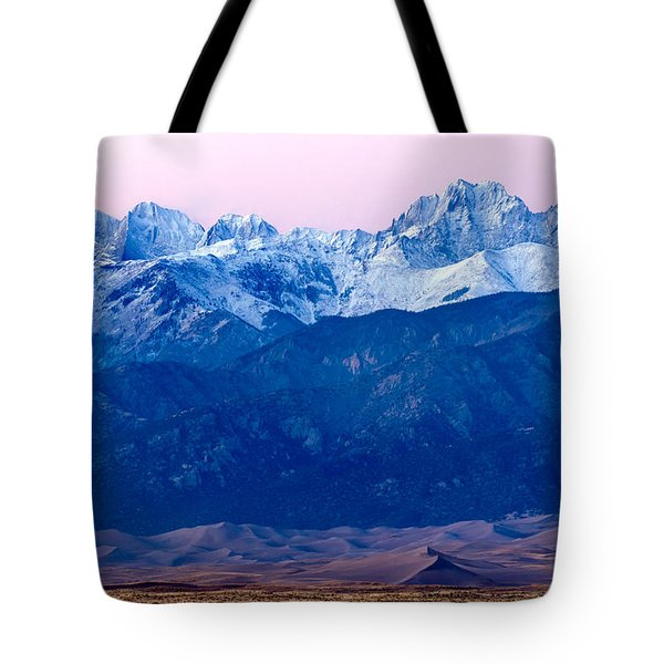 Sangre De Christo And The Great Sand Dunes National Park Tote Bag