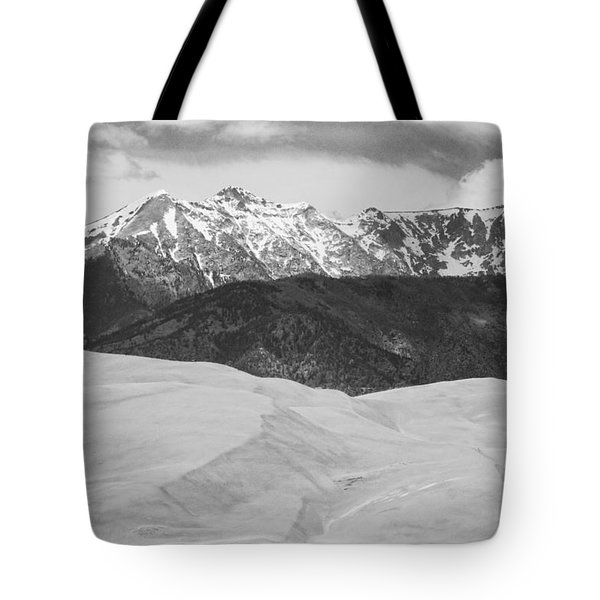 Sangre De Cristo Mountains And The Great Sand Dunes Bw Tote Bag by James BO  Insogna