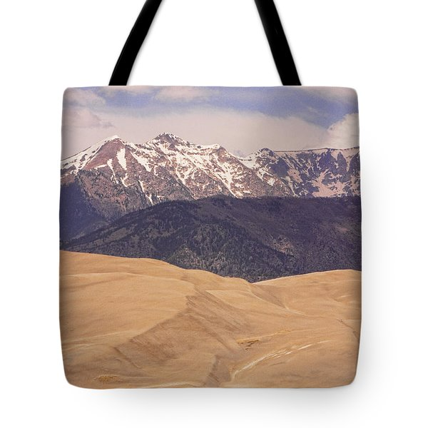 Sangre De Cristo Mountains And The Great Sand Dunes Tote Bag by James BO  Insogna