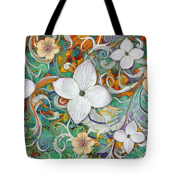 Sangria Flora Tote Bag