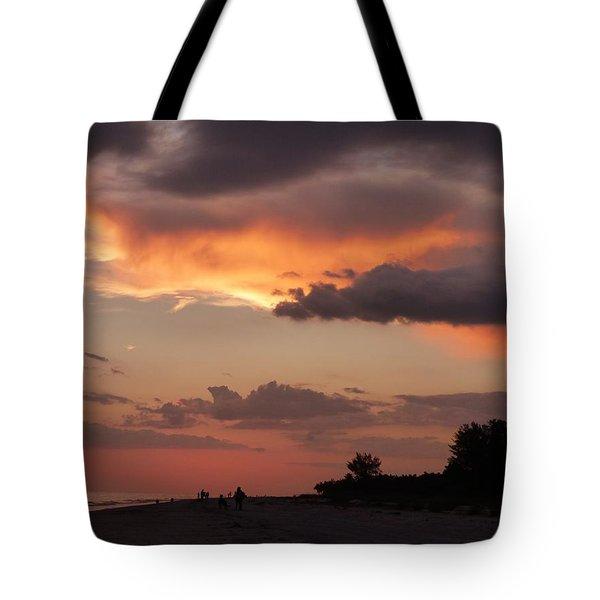 Tote Bag featuring the photograph Sanibel At Dusk by Melinda Saminski