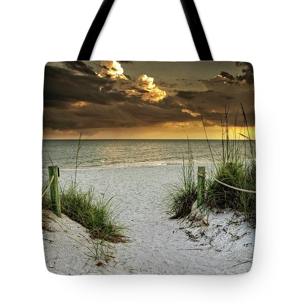 Sanibel Island Beach Access Tote Bag