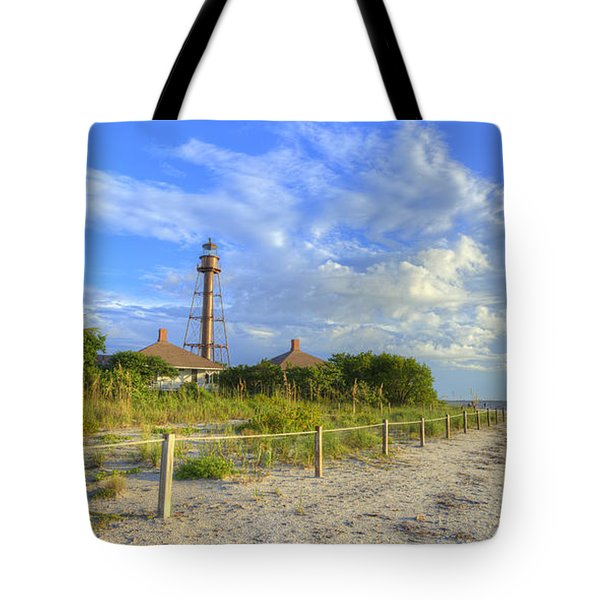 Sanibel Light House Tote Bag