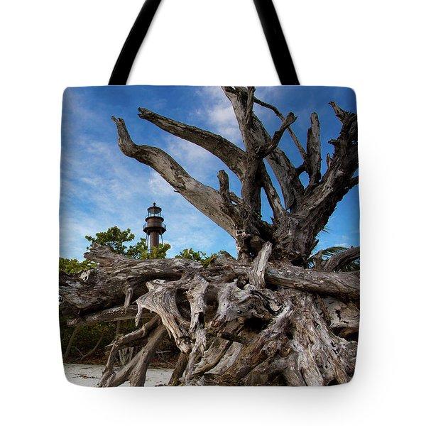 Sanibel Lighthouse Tote Bag