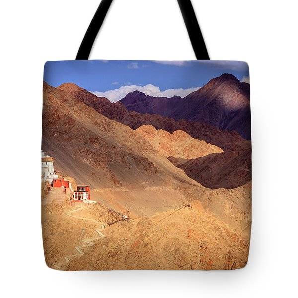 Tote Bag featuring the photograph Sankar Monastery by Alexey Stiop