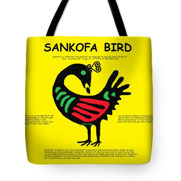 Sankofa Bird Of Knowledge Tote Bag
