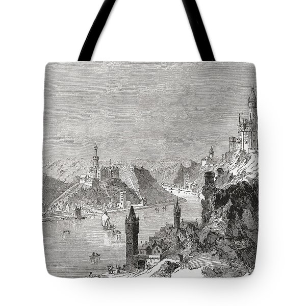 Sankt Goar And The Burg Rheinfels Tote Bag