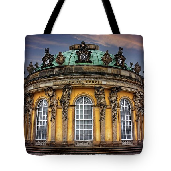 Tote Bag featuring the photograph Sanssouci Palace In Potsdam Germany  by Carol Japp