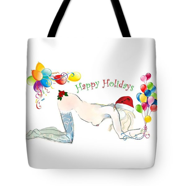 Santa Baby - Holiday Cards Tote Bag by Carolyn Weltman