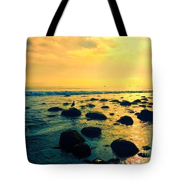 Santa Barbara California Ocean Sunset Tote Bag