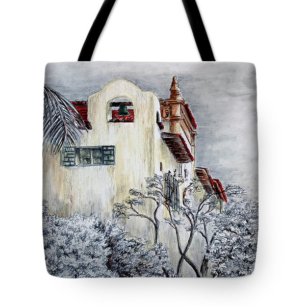 Santa Barbara Courthouse Bell Tower Tote Bag by Danuta Bennett