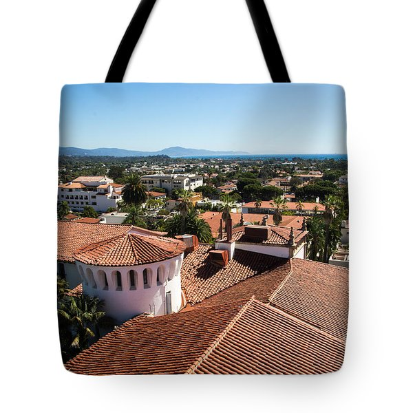 Santa Barbara From Above Tote Bag