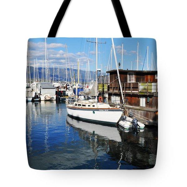 Tote Bag featuring the photograph Santa Barbara Harbor by Kyle Hanson