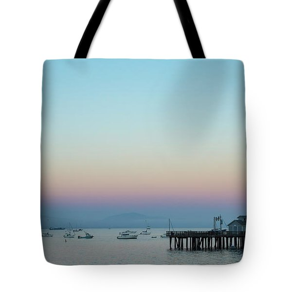 Santa Barbara Pier At Dusk Tote Bag