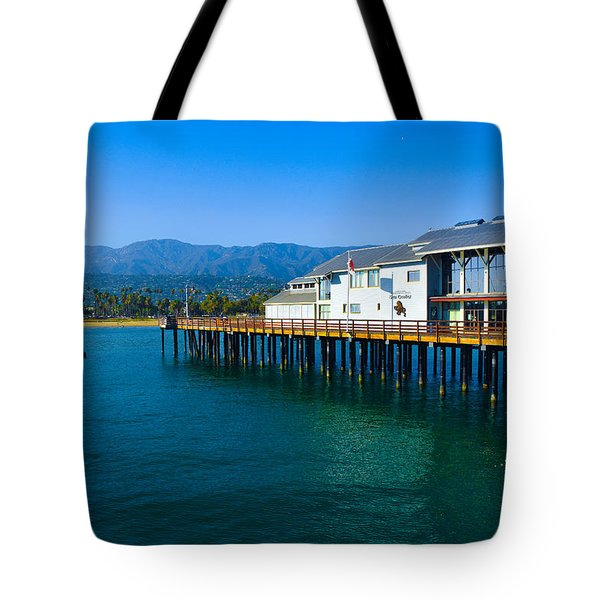 Tote Bag featuring the photograph Santa Barbara Pier by Dany Lison