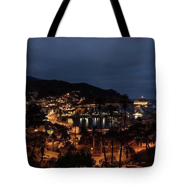 Santa Catalina Island Nightscape Tote Bag by Angela A Stanton