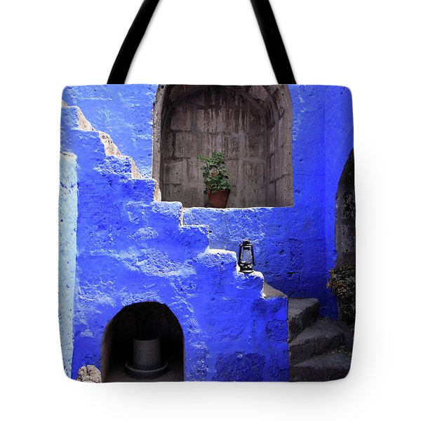 Tote Bag featuring the photograph Santa Catalina Monastery, Arequipa, Peru by Aidan Moran
