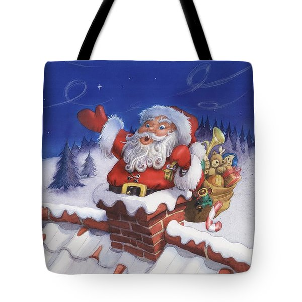 Santa Chimney Tote Bag