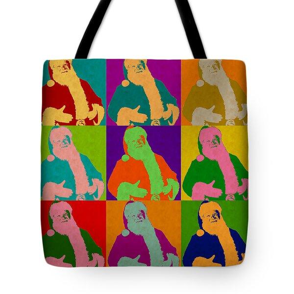 Santa Claus Andy Warhol Style Tote Bag