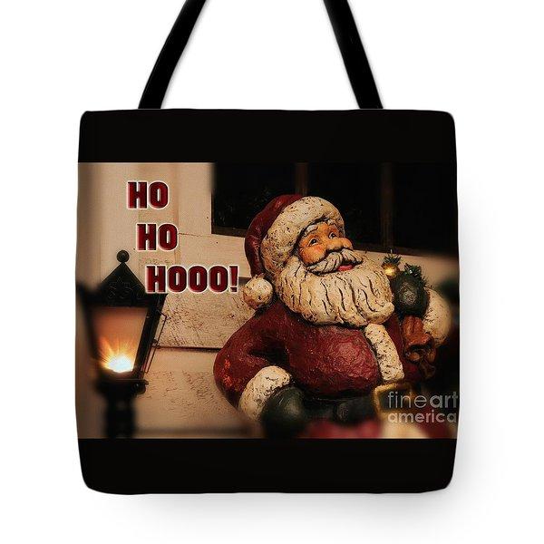 Santa Claus Christmas Card Tote Bag by Lois Bryan