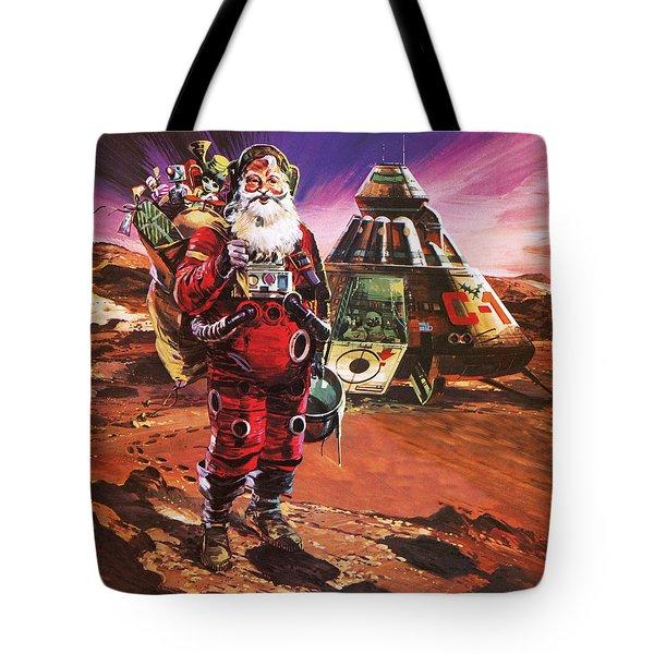 Santa Claus On Mars Tote Bag by English School