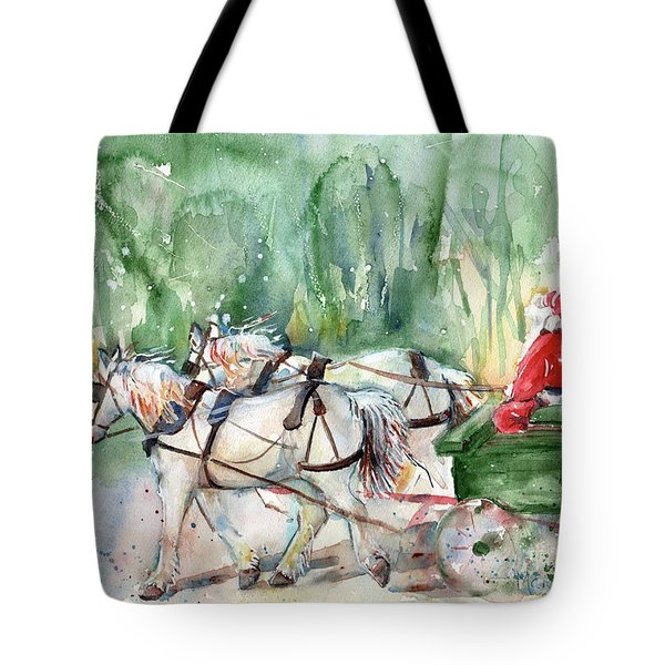 Santa Claus Is Coming To Town Tote Bag