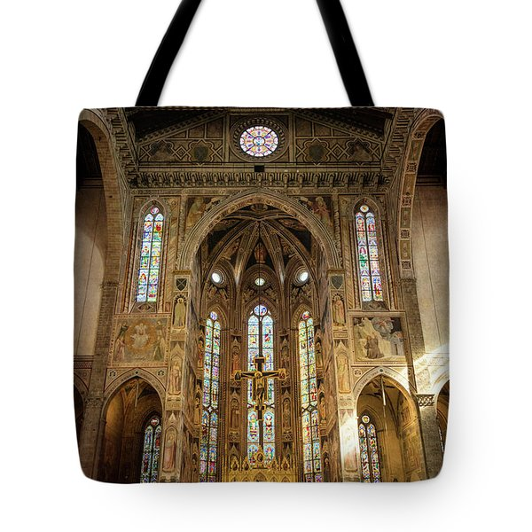 Tote Bag featuring the photograph Santa Croce Florence Italy by Joan Carroll