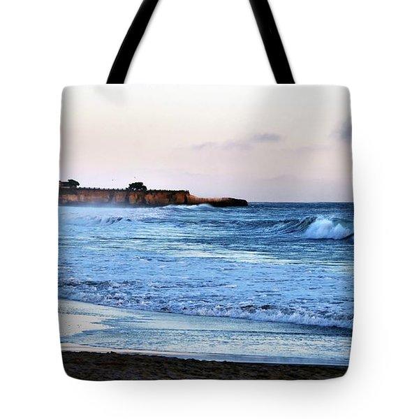 Santa Cruz Bay Waves Tote Bag
