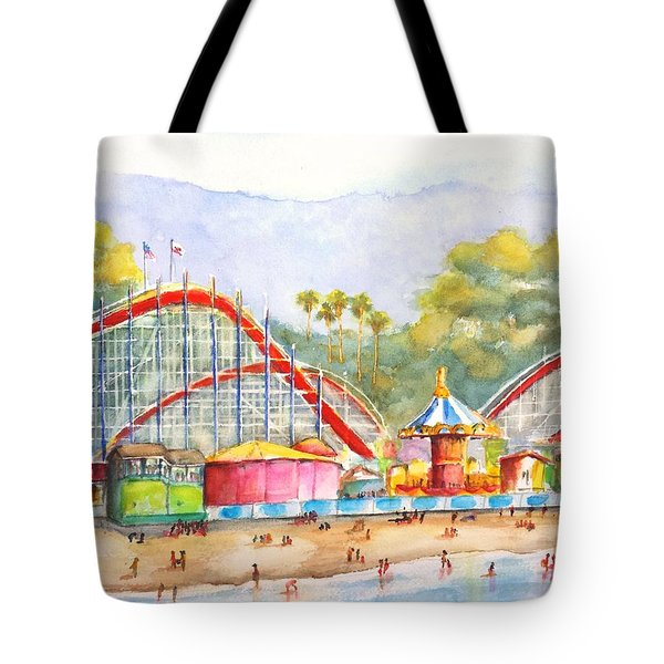 Santa Cruz Beach Boardwalk Tote Bag
