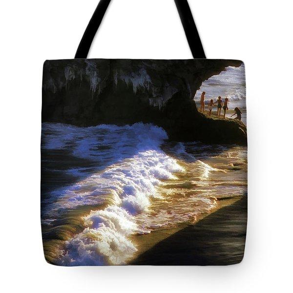 Santa Cruz 'bridge' California Coastline Tote Bag