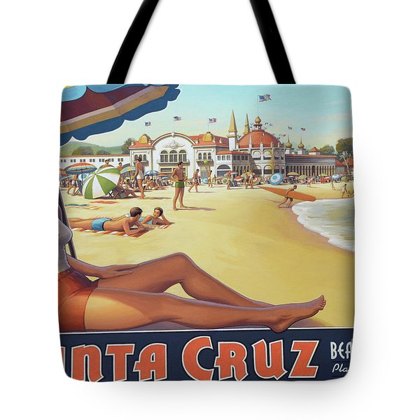Santa Cruz For Youz Tote Bag by Bob Christopher