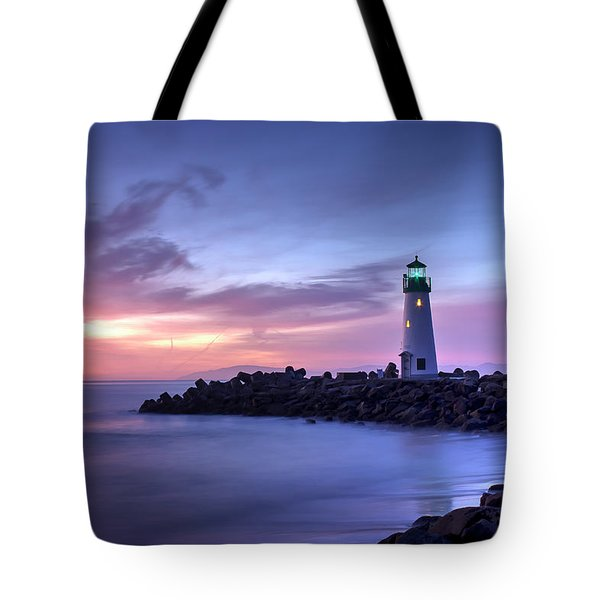 Santa Cruz Harbor Mouth Sunrise Tote Bag