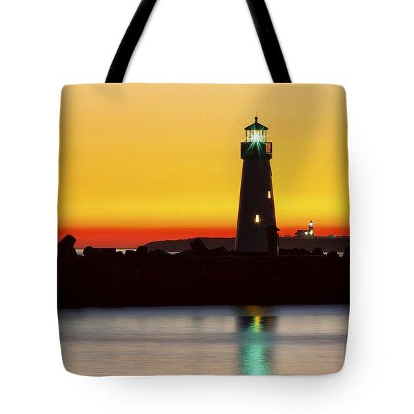 Santa Cruz Lighthouses Tote Bag