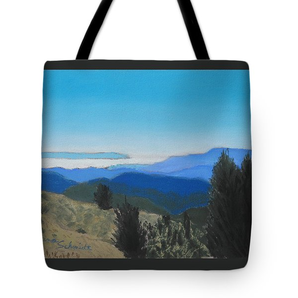 Santa Cruz Mountains Looking To Monterey Bay Tote Bag