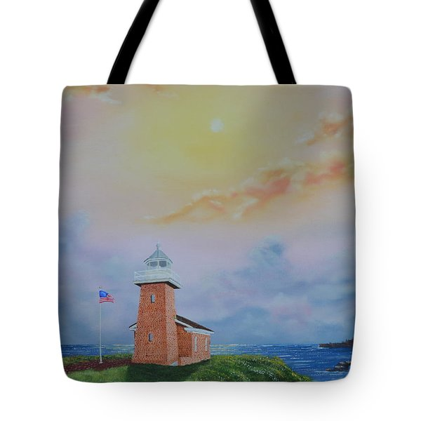 Tote Bag featuring the painting Santa Cruz Sunset by Mary Scott