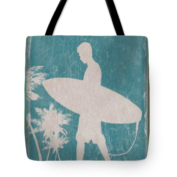 Tote Bag featuring the digital art Santa Cruz Surf Club by Greg Sharpe