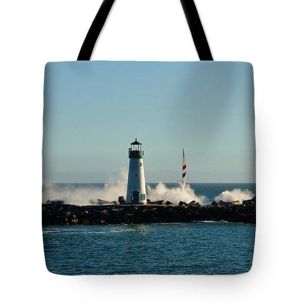 Santa Cruz Walton Lighthouse Tote Bag