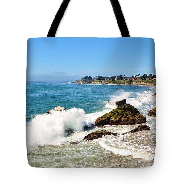 Santa Cruz Wave Spray Tote Bag