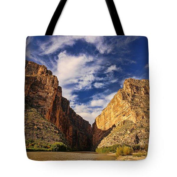 Santa Elena Canyon 3 Tote Bag by Judy Vincent