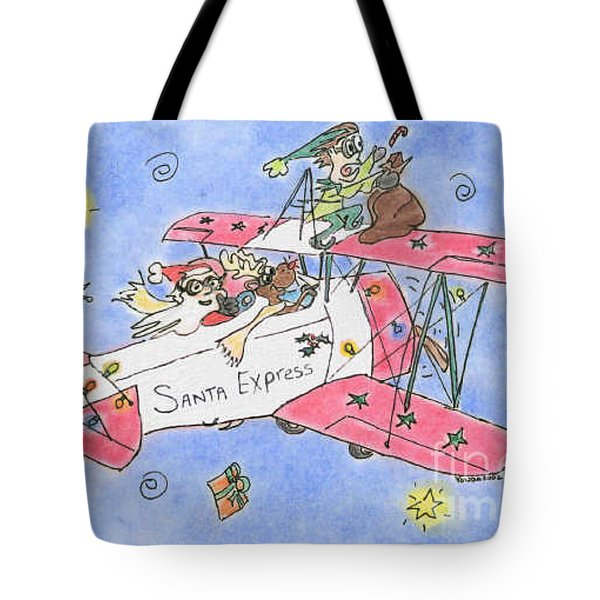 Santa Express Tote Bag by Vonda Lawson-Rosa