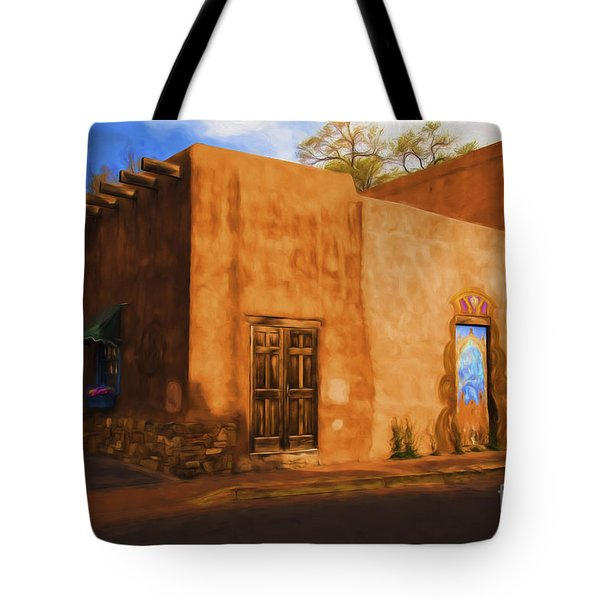 Tote Bag featuring the photograph Santa Fe  ... by Chuck Caramella
