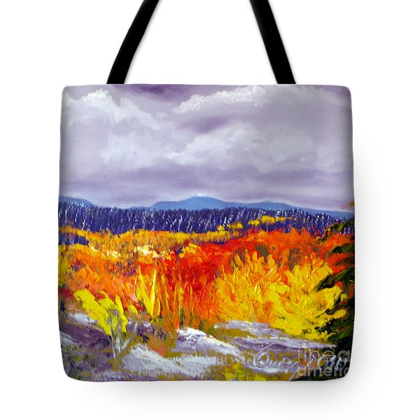 Santa Fe Aspens Series 1 Of 8 Tote Bag
