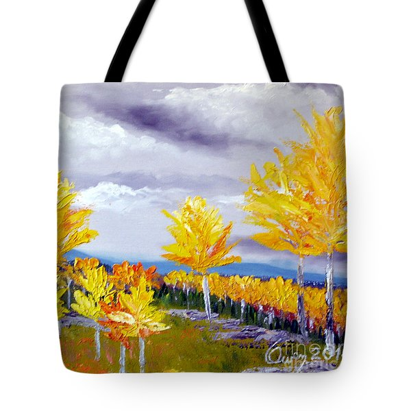 Santa Fe Aspens Series 3 Of 8 Tote Bag