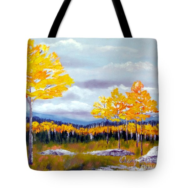 Santa Fe Aspens Series 8 Of 8 Tote Bag