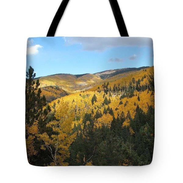 Santa Fe Autumn View Tote Bag