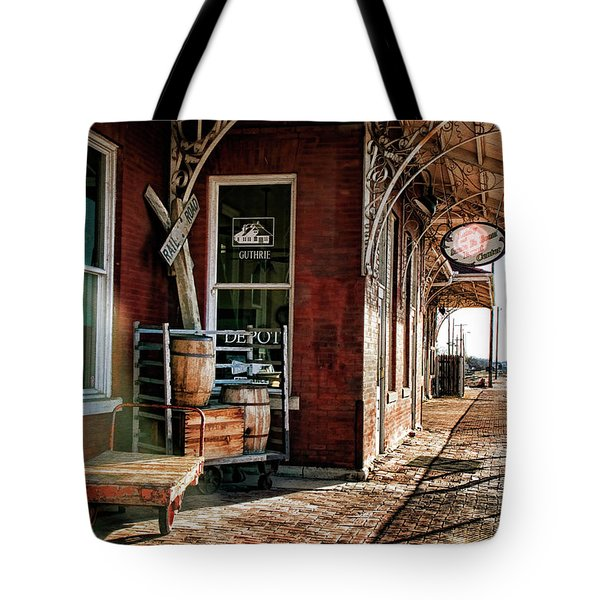 Santa Fe Depot Of Guthrie Tote Bag