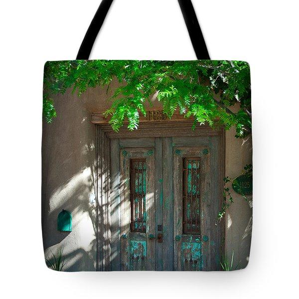 Santa Fe Door Tote Bag by David Patterson